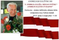 Konkurss - ANDREJAM EGLĪTIM 100