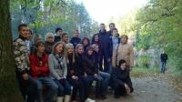 Vidusskolas skolēnu ekskursija uz Ziemeļvidzemes biosfēras rezervuātu.