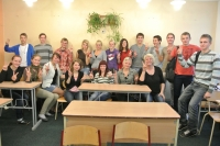 Pozitīva pieredze - pie mums viesojas skolas absolvente UNA VOLKOVA.
